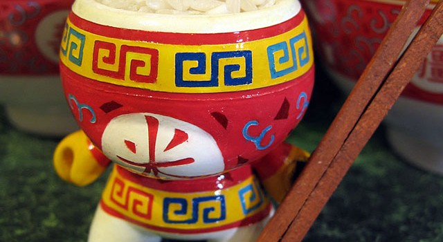 "Chinese ""Rice Bowl"" Custom 3″ Dunny"
