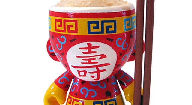 "Chinese ""Rice Bowl"" Custom Mini Munny"
