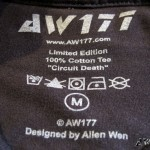 AW177 Circuit Death T-Shirt Inner Label