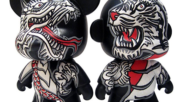 """Dragon vs. Tiger"" Custom 5″ Toy2R Mini Qees"
