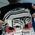 Andy Toys R Evil Wearing Circuit Death T-Shirt