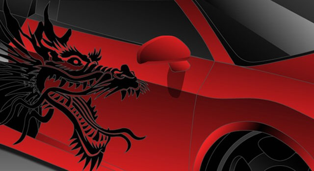 """Dragon Audi R8"" Artwork"
