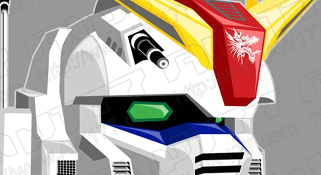 """Dragon Vector Force"" Gundam Artwork"